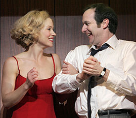 Christina Applegate and Denis O'Hare in Sweet Charity(Photo © Paul Kolnik)