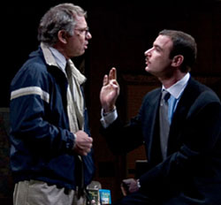 Tom Wopat and Liev Schreiberin Glengarry Glen Ross(Photo © Scott Landis)