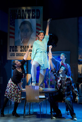 Farah Alvin (center) and company