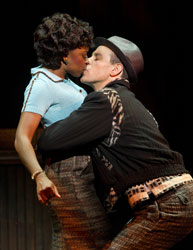 Montego Glover and Adam Pascal in Memphis
