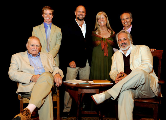 Brian Dennehy, Tyler Dobrowsky, Curt Columbus, Campaign Chair Suzanne Magaziner, Michael Gennaro and Fred Sullivan, Jr. at A Night With Brian Dennehy