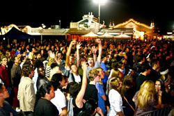 Crowd at the Santa Monica Pier