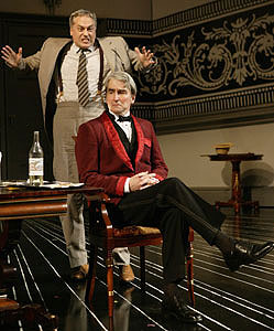 Tom Hewitt and Sam Waterston in Travesties