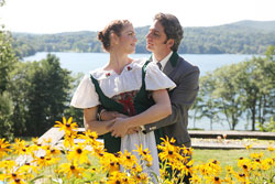 Caitlin McGinty and Michael Sharon star in The Sound of Music