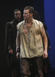 Simon Bracken and Graham Abbeyin Cymbeline
