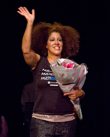 Rain Pryor at curtain call