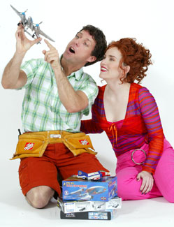 Christopher Sutton and Donna Lynne Champlin in The Flight of the Lawnchair Man
