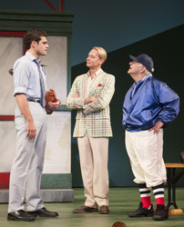 Sam Prince, Carson Kressley, and Ray DeMattis in Damn Yankees (© The Ogunquit Playhouse)