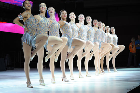 """The Rockettes perform at the """"Kickoff Keynote Session"""" at the 2012 Zumba Instructor's Convention in Orlando, FL  (© Zumba Fitness LLC)"""