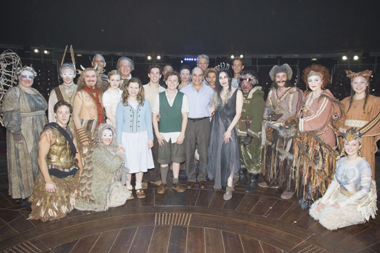David Suchet (center) with the cast of London's The Lion, The Witch and the Wardrobe