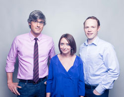 Mo Rocca, Rachel Dratch, and Sean Dugan