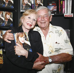 Michael Learned and Ralph Waite at  release party of Mary McDonough's book Lessons From The Mountain: What I Learned from Erin Walton