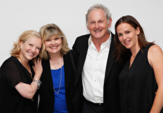 Director/choreographer Susan Stroman, Tony-winning actress Debra Monk, stage and screen star Victor Garber and his former Alias co-star Jennifer Garner