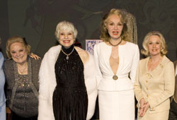 Rose Marie, Carol Channing, Julie Newmar and Tippi Hedren