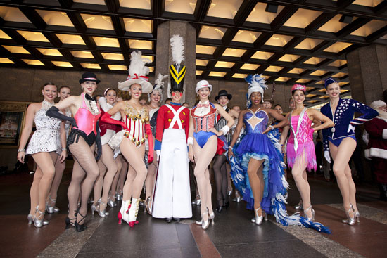 The Rockettes display costumes worn throughout the decades, representing the past, present and future of the legendary New York dance company, as they celebrate their 85th year of performance in New York