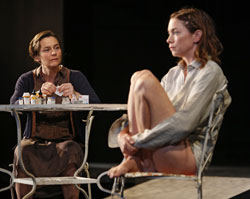 Jenny Bacon and Julianne Nicholson