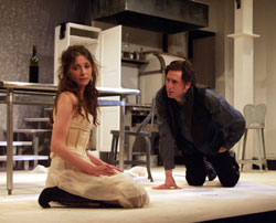 Marin Hinkle and Reg Rogers in Miss Julie (Photo by Sandra Coudert)