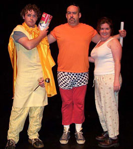 "Ciaran Crawford, Rick Park, and Irene Daly in ""The Amazing Adventures of Captain Normal""