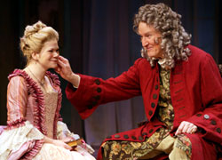 Danielle Ferland and Remak Ramsay in She Stoops to  Conquer (Photo © Carol Rosegg)