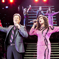 Donny Osmond and Marie Osmond in performance
