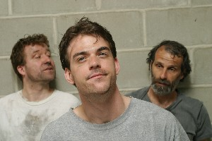 (l-r) Laurence Lowrym, Rob Cameron, and Damian Buzzerio in Someone Who'll Watch Over Me Photo © Martyn Gallina-Jones