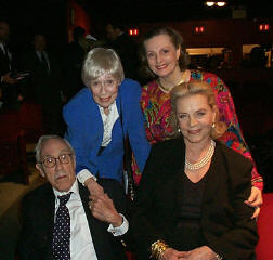 Jason Robards, Eileen Heckart, Dana Ivey, and Lauren Bacall at the 15th annual Lucille Lortel Awards(Photo by Forrest Mallard)