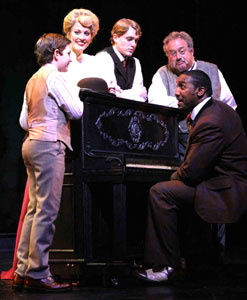 Garrett Eucker, Rachel York, Shonn Wiley, Jeff Cyronek, and Quentin Earl Darringtonin Ragtime