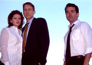 Kerry O'Malley, Gregg Edelman, and Brian d'Arcy Jamesin a publicity shot for Flight