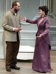 Scott Foley and Brooke Adams in The Cherry Orchard
