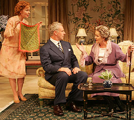 Kate Burton, John Dossett, and Lynn Redgravein The Constant Wife
