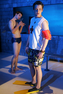 Logan Marshall-Green and Michael Arden in Swimming in the Shallows (Photo © Joan Marcus)