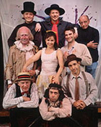 The current cast of The Fantasticks