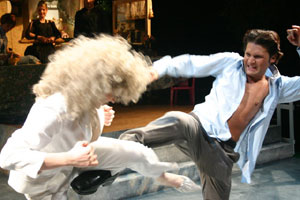 Alana McNair and Corey Feldman in Fatal Attraction: A Greek Tragedy