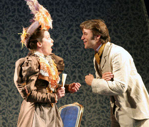 Isabel Keating and Adam Rothenberg in Lady Windermere's Fan