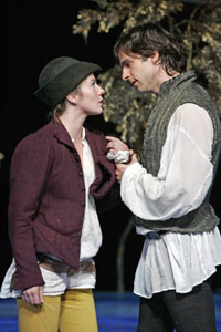 Lynn Collins and James Waterston in As You Like It