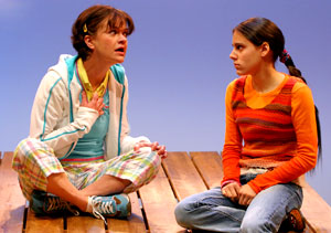 Susan Louise O'Connor and Sarah Lord in Walk Two Moons