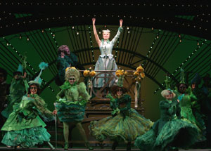 Kate Reinders (center) and company in Wicked