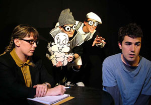 R. Jane Casserly, Paul Caiola, Joseph Yeargain, and Vince Gatton in Busted Jesus Comix