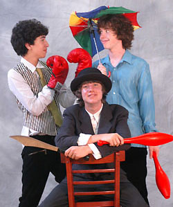 The teenage jugglers of The Three of Clubs