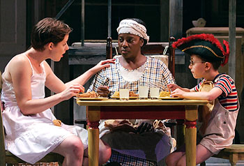 Liz Morton, LaTanya Richardson Jackson, and Jack Metzger in The Member of the Wedding