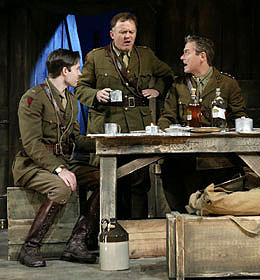 Kieran Campion, Andrew Weems,and Mark Shanahan in Journey's End