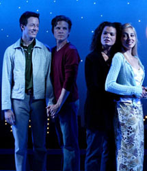 Christopher Sloan, Paul Witthorne,  January LaVoy, and Ryan Kelly in Joy