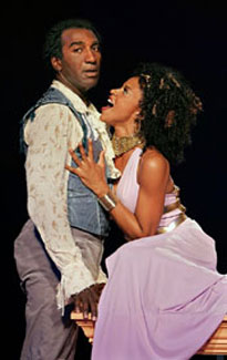 Norm Lewis and Renée Elise Goldsberry  in Two Gentlemen of Verona