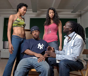 Erica Ashe, Omar Evans, Chelsea McKinnes, and Rodrick Covington in No Boundaries