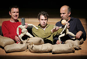 Lee Simpson, Phelim McDermott, and Guy Dartnell in Spirit