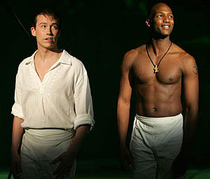 Tyler Maynard and Clifton Oliver in Miracle Brothers