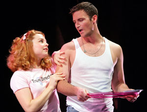 Chandra Lee Swartz and John Hill in But I'm a Cheerleader