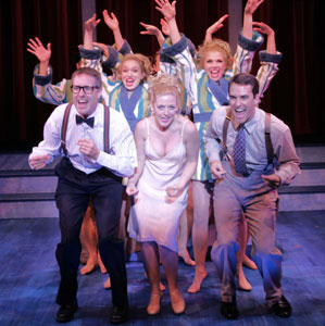 Brian Noonan, Christy Faber, Jennifer Simard, Colleen Hawks, and Christopher Corts in Dr. Sex (Photo © Carol Rosegg)