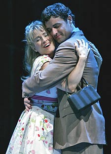 Heather Spore and Max von Essenin The Umbrellas of Cherbourg(Photo © Mike McLaughlin)