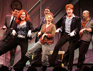 Bradley Dean, Debbie Gravitte, Patrick Quinn, Jackie Hoffman,Sal Viviano, and Raymond Bokhour in The Big Time